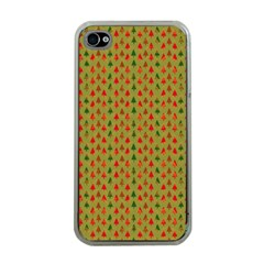 Christmas Trees Pattern Apple iPhone 4 Case (Clear)