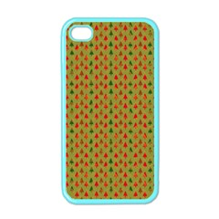 Christmas Trees Pattern Apple iPhone 4 Case (Color)