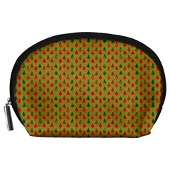 Christmas Trees Pattern Accessory Pouches (large)