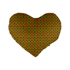 Christmas Trees Pattern Standard 16  Premium Flano Heart Shape Cushions