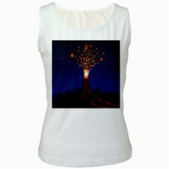 Christmas Volcano Women s White Tank Top