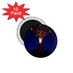 Christmas Volcano 1.75  Magnets (10 pack)