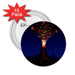 Christmas Volcano 2.25  Buttons (10 pack)