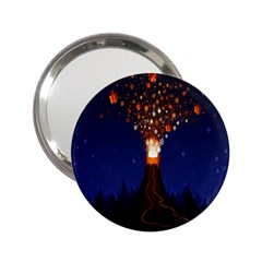 Christmas Volcano 2.25  Handbag Mirrors