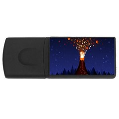 Christmas Volcano USB Flash Drive Rectangular (2 GB)