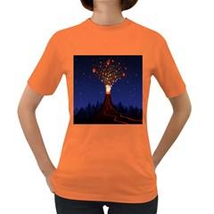 Christmas Volcano Women s Dark T Shirt
