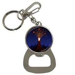 Christmas Volcano Button Necklaces