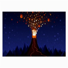 Christmas Volcano Large Glasses Cloth (2-Side)