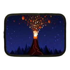Christmas Volcano Netbook Case (Medium)