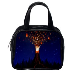 Christmas Volcano Classic Handbags (One Side)