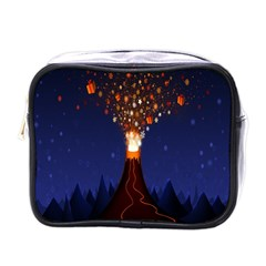 Christmas Volcano Mini Toiletries Bags