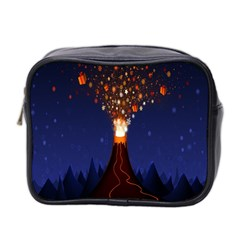 Christmas Volcano Mini Toiletries Bag 2-Side