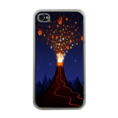 Christmas Volcano Apple Iphone 4 Case (clear)