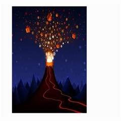 Christmas Volcano Large Garden Flag (Two Sides)