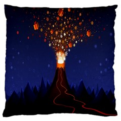 Christmas Volcano Large Cushion Case (One Side)