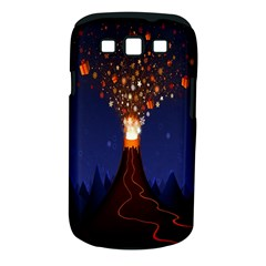 Christmas Volcano Samsung Galaxy S III Classic Hardshell Case (PC+Silicone)