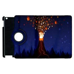 Christmas Volcano Apple iPad 2 Flip 360 Case