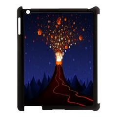 Christmas Volcano Apple Ipad 3/4 Case (black)