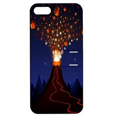 Christmas Volcano Apple Iphone 5 Hardshell Case With Stand