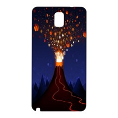 Christmas Volcano Samsung Galaxy Note 3 N9005 Hardshell Back Case
