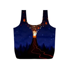 Christmas Volcano Full Print Recycle Bags (S)