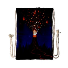 Christmas Volcano Drawstring Bag (Small)