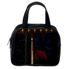Christmas Xmas Bag Pattern Classic Handbags (One Side)