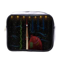 Christmas Xmas Bag Pattern Mini Toiletries Bags