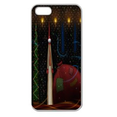 Christmas Xmas Bag Pattern Apple Seamless iPhone 5 Case (Clear)