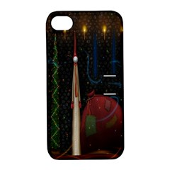 Christmas Xmas Bag Pattern Apple iPhone 4/4S Hardshell Case with Stand