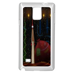 Christmas Xmas Bag Pattern Samsung Galaxy Note 4 Case (White)
