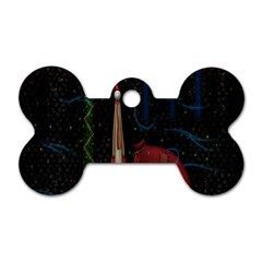 Christmas Xmas Bag Pattern Dog Tag Bone (Two Sides)