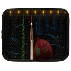 Christmas Xmas Bag Pattern Netbook Case (XXL)