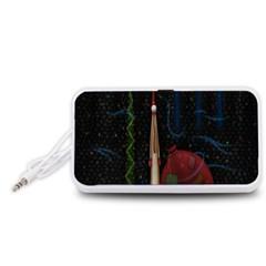 Christmas Xmas Bag Pattern Portable Speaker (White)