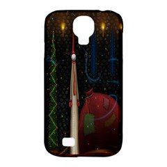 Christmas Xmas Bag Pattern Samsung Galaxy S4 Classic Hardshell Case (pc+silicone)