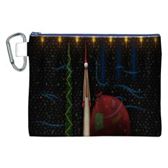 Christmas Xmas Bag Pattern Canvas Cosmetic Bag (xxl)