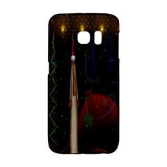 Christmas Xmas Bag Pattern Galaxy S6 Edge