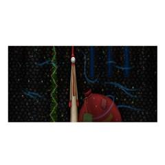 Christmas Xmas Bag Pattern Satin Shawl