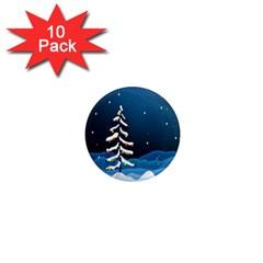 Christmas Xmas Fall Tree 1  Mini Magnet (10 pack)