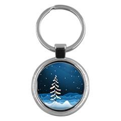 Christmas Xmas Fall Tree Key Chains (Round)