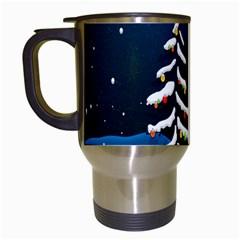 Christmas Xmas Fall Tree Travel Mugs (White)