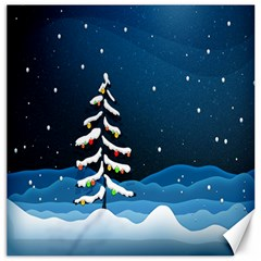 Christmas Xmas Fall Tree Canvas 20  x 20