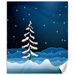 Christmas Xmas Fall Tree Canvas 20  x 24