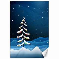 Christmas Xmas Fall Tree Canvas 20  x 30