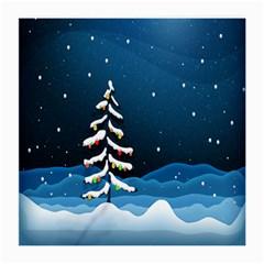 Christmas Xmas Fall Tree Medium Glasses Cloth (2-Side)