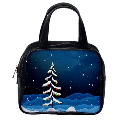 Christmas Xmas Fall Tree Classic Handbags (One Side)