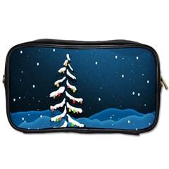 Christmas Xmas Fall Tree Toiletries Bags 2-Side