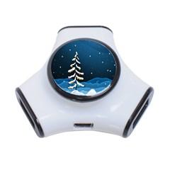 Christmas Xmas Fall Tree 3 Port Usb Hub