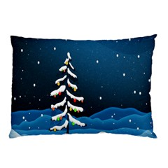 Christmas Xmas Fall Tree Pillow Case (two Sides)