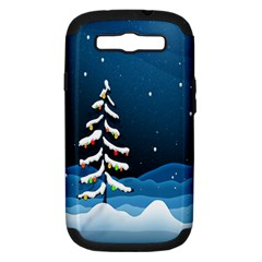 Christmas Xmas Fall Tree Samsung Galaxy S Iii Hardshell Case (pc+silicone)